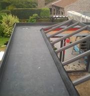 Veranda dak in EPDM