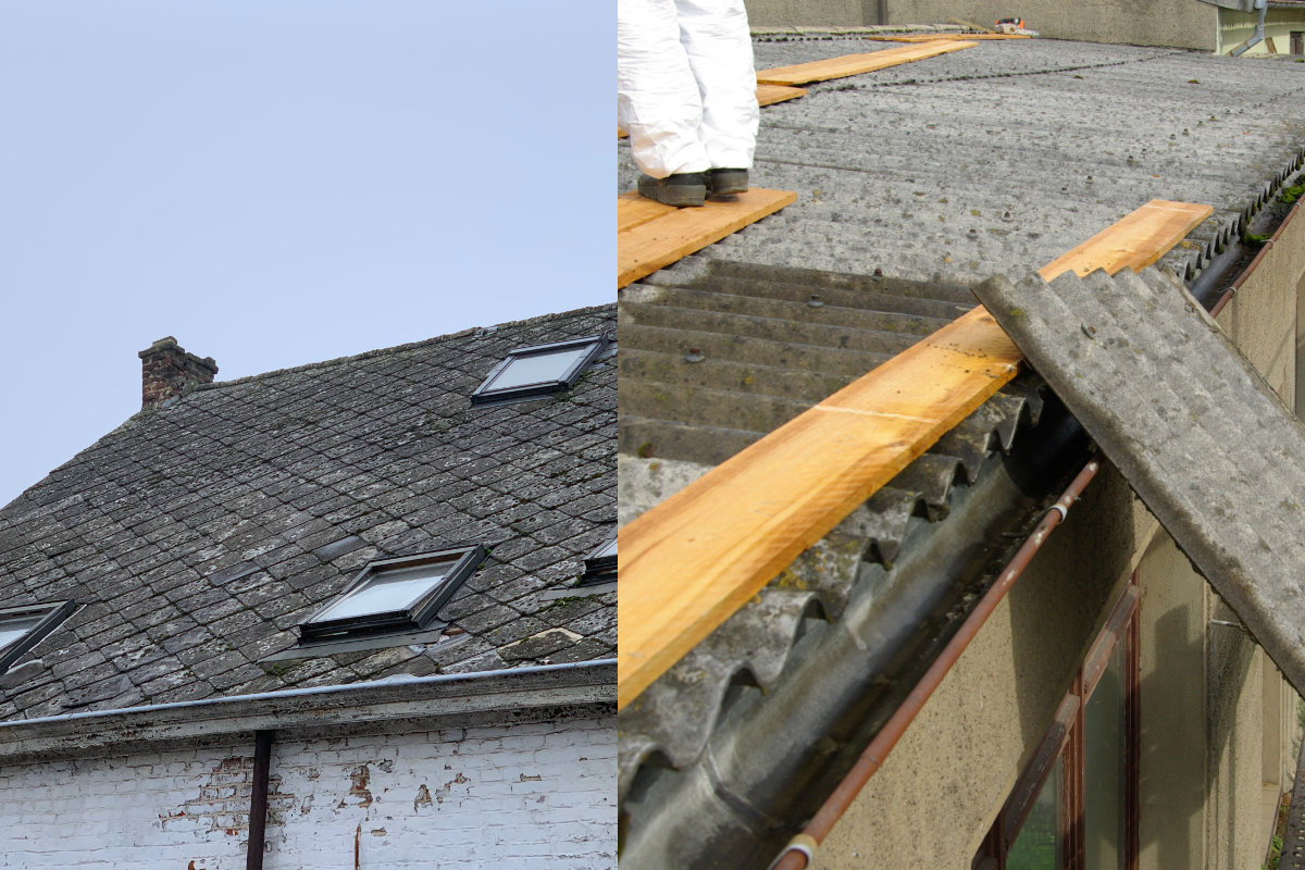 asbest leien en asbest golfplaten
