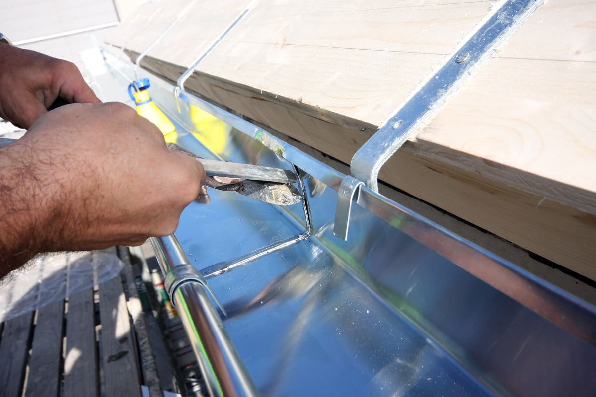 dakgoot herstellen solderen