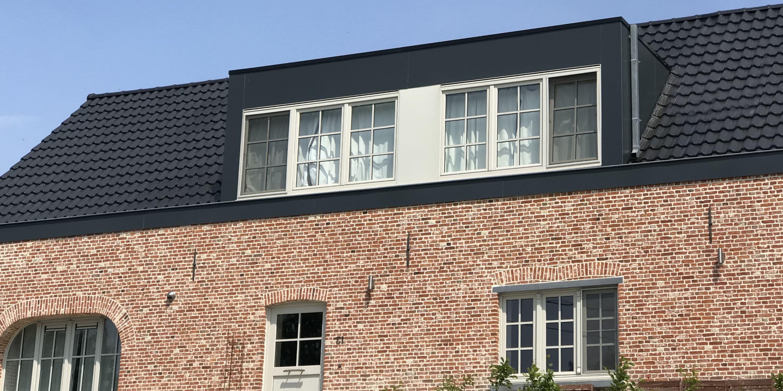 prefab opbouw hellend dak
